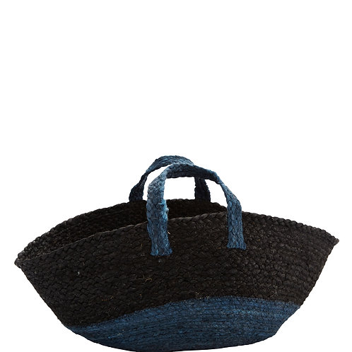 Hemp basket with handles