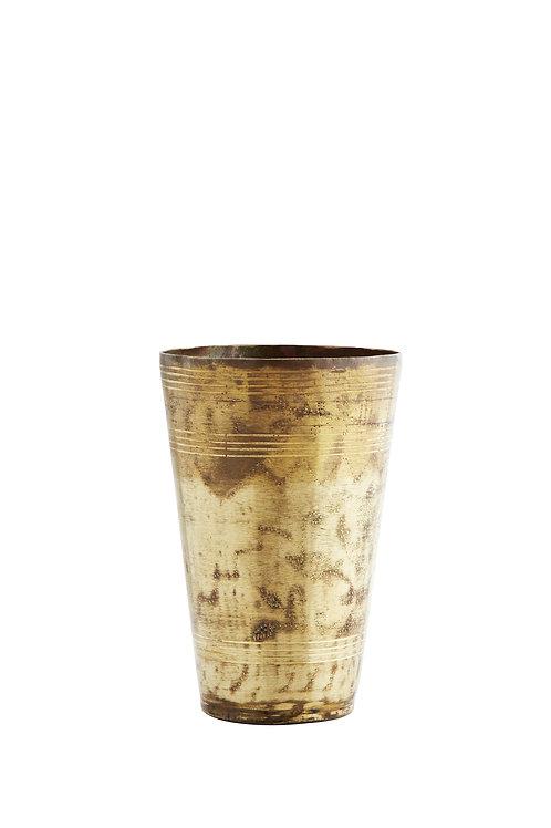 Vintage Brass Lassi glass