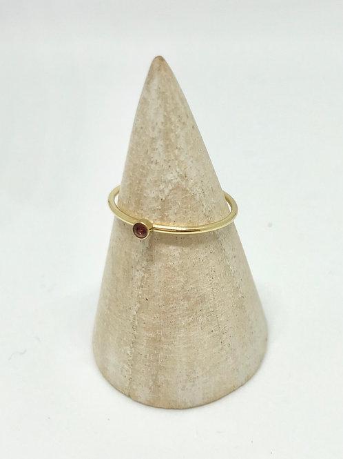 Birthstone stacking ring