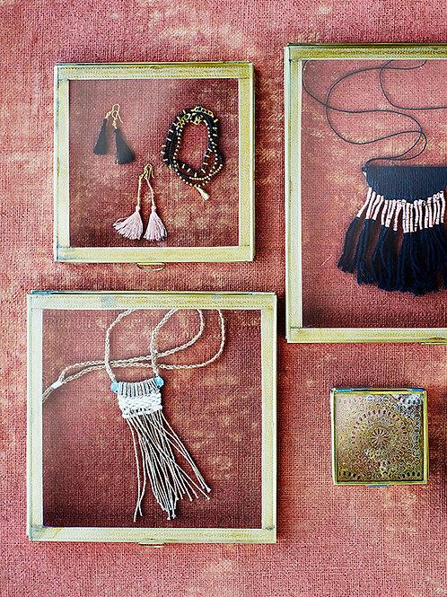Black Necklace with Fringe