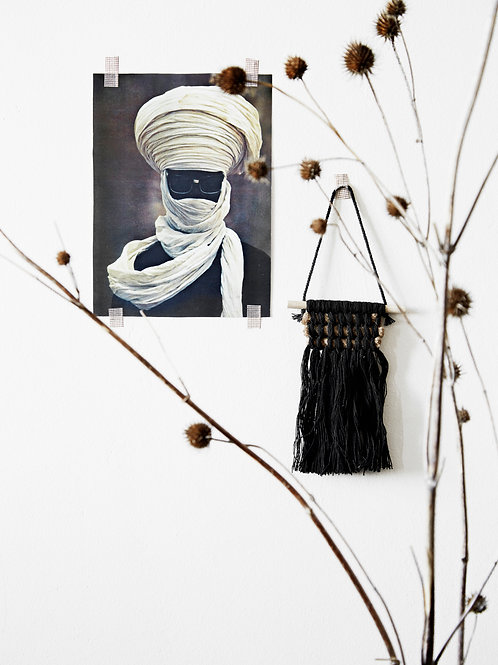 Black cotton wall hanging