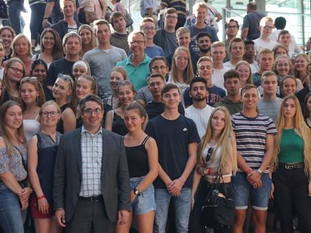 Städtisches Gymnasium Goch zu Besuch im Bundestag