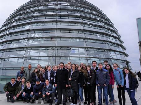 Städtisches Gymnasium Straelen zu Besuch im Bundestag