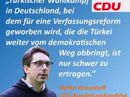 Statement zum türkischen Wahlkampf in Deutschland