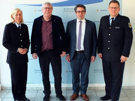Rouenhoff im Austausch mit der Bundespolizeidirektion Sankt Augustin