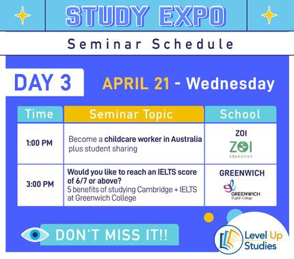 Seminar Day3 Schedule