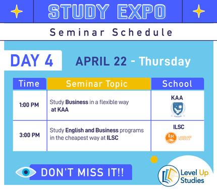 Seminar Day4 Schedule