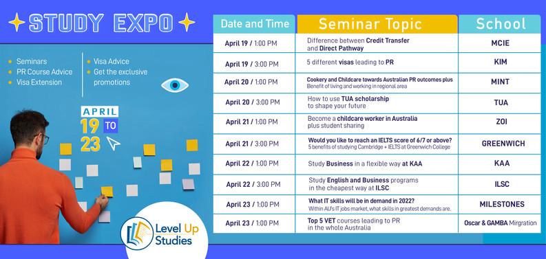 Seminar General Schedule