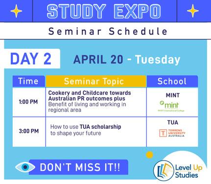 Seminar Day2 Schedule