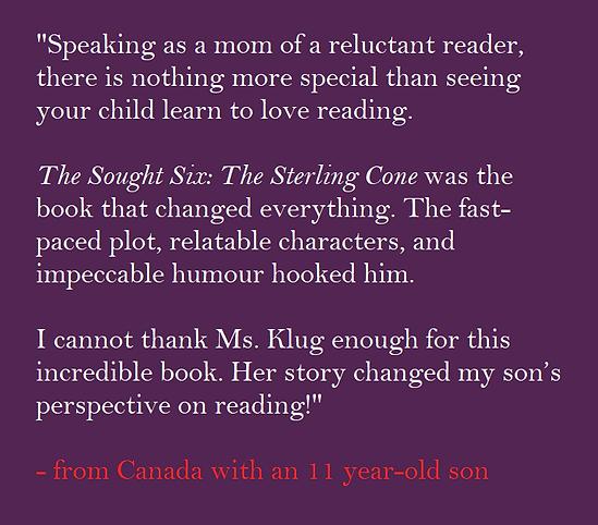 C.A. Klug The Sought Six Book Review by Parent