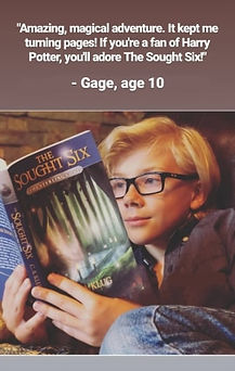 Gage compares The Sought Six to Harry Potter!