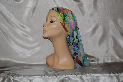 Chiffon Floral Print Cancer/Head Scarf