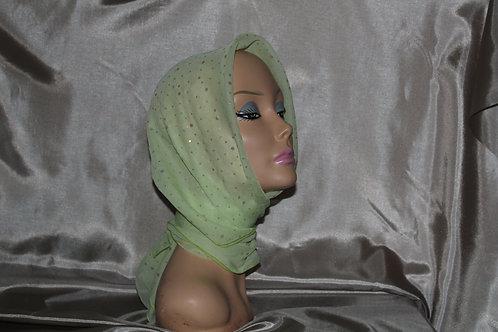 Lime Green Ducco Chiffon Cancer/Head Scarf
