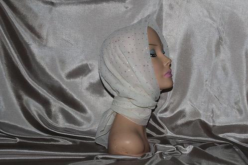 Ivory Chiffon Ducco Cancer/Head Scarf