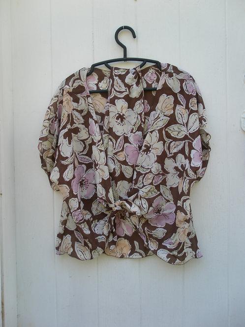 Large pink/white floral print.