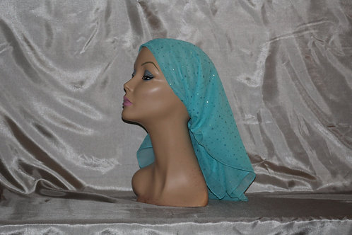Light Turquoise Chiffon Ducco Cancer/Head Scarf
