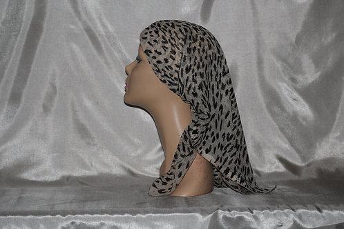Chiffon Animal Print Cancer/Head Scarf