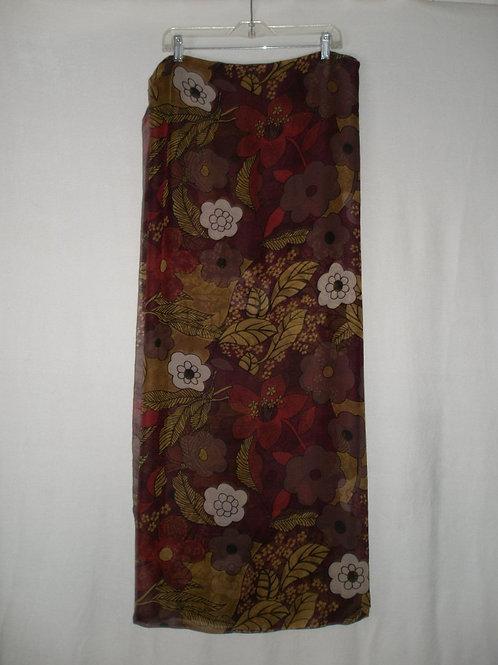 Chiffon floral print sarong & hat band