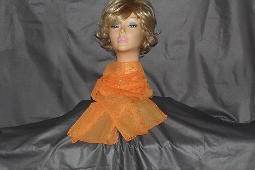 Orange Chiffon Neck Scarf