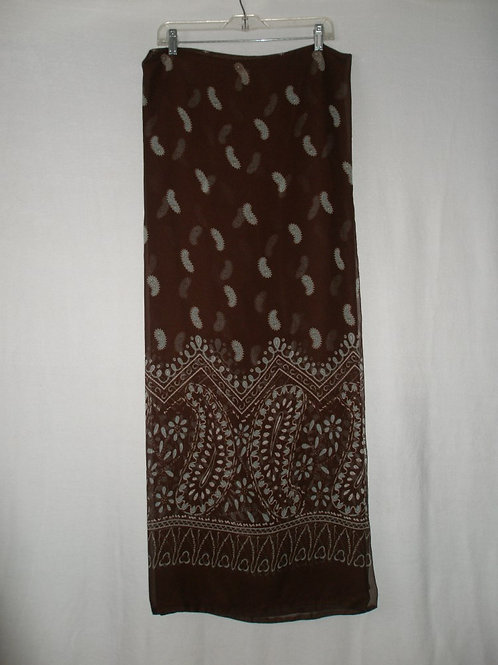 Chiffon border print sarong & hat band