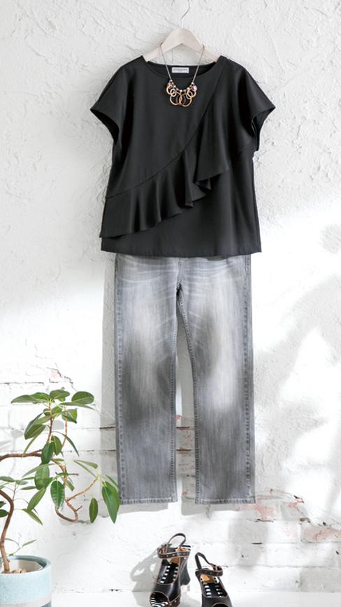 Cutsew edt-61130010 ¥14,080 (税込) size/ F  color/ 06  Pants edt-61110086 ¥18,700 (税込) size/ 36,38,40  color/ 94