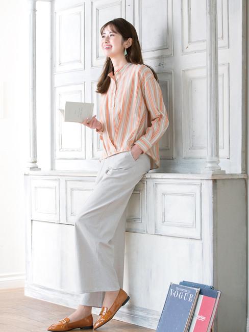 Blouse edi-60110183 ¥20,900 (税込) size/ F  color/ 10  Pants edm-62120666 ¥19,800 (税込) size/ 36,38,40  color/ 11