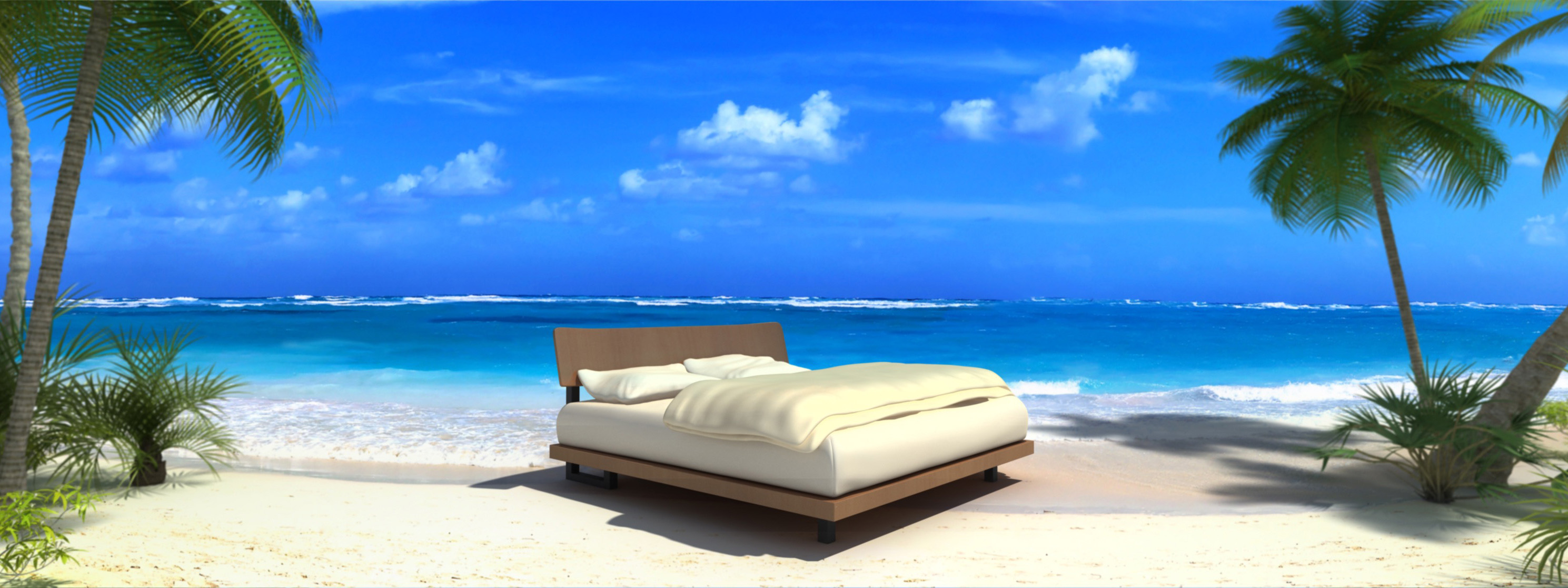 HP Bett am Strand