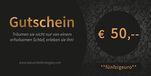 GESCHENKGUTSCHEIN        Wert € 50,--