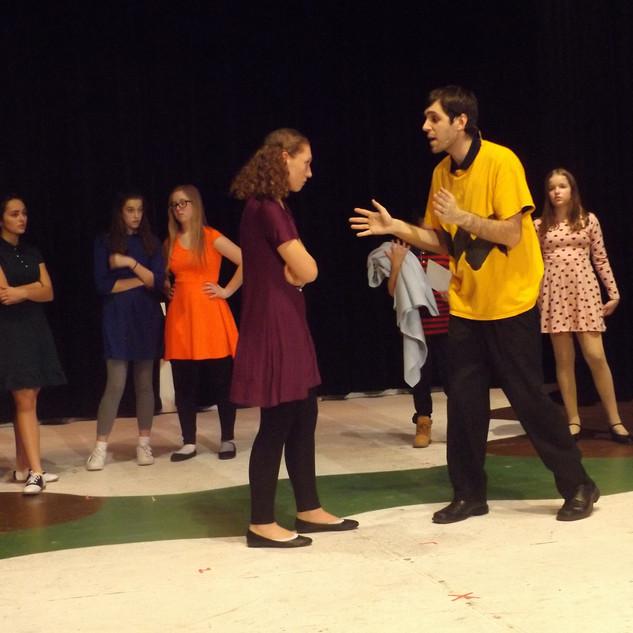 Frieda (Katie Bavirsha) confronts her director