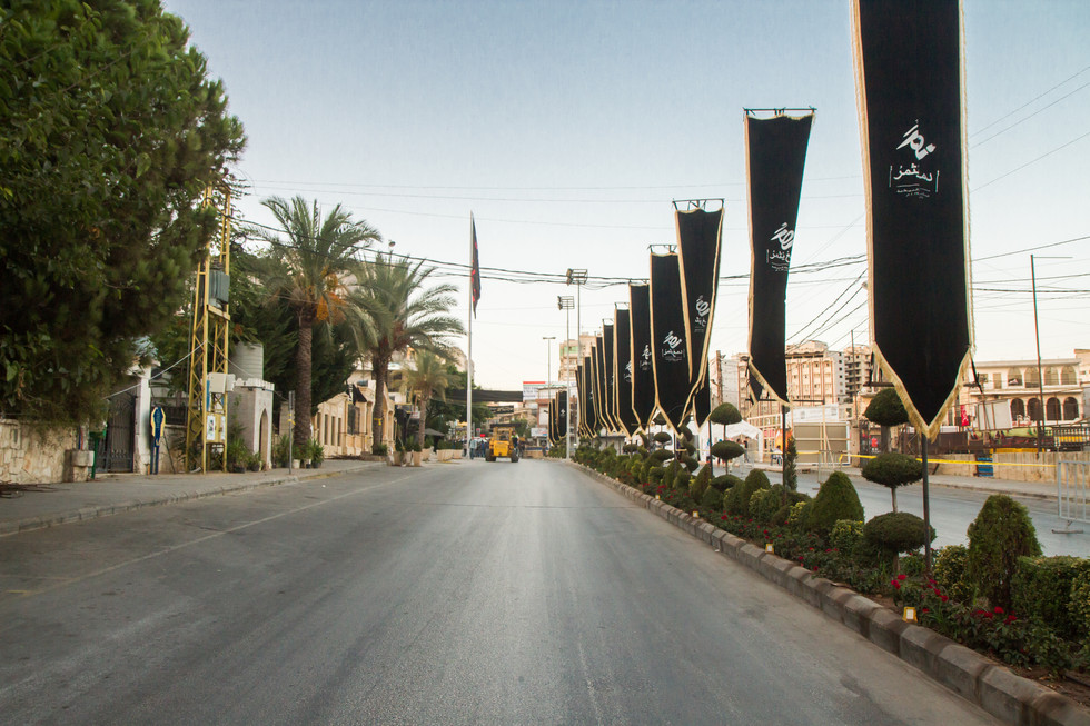 Avant la procession - Nabatiyeh, Liban