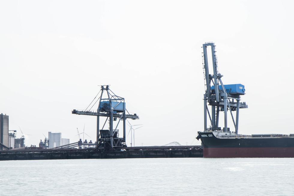 Grues II - port de Rotterdam