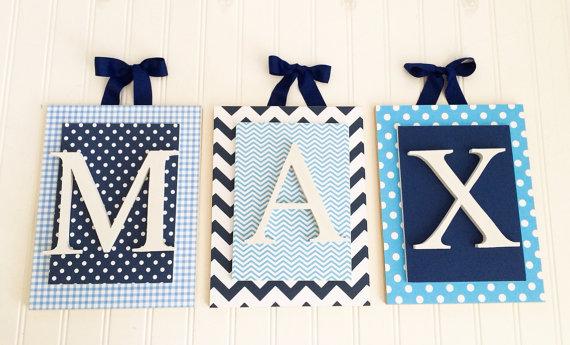 Blue Nursery Letters