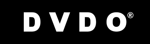 DVDO logo with R_White on Black.png