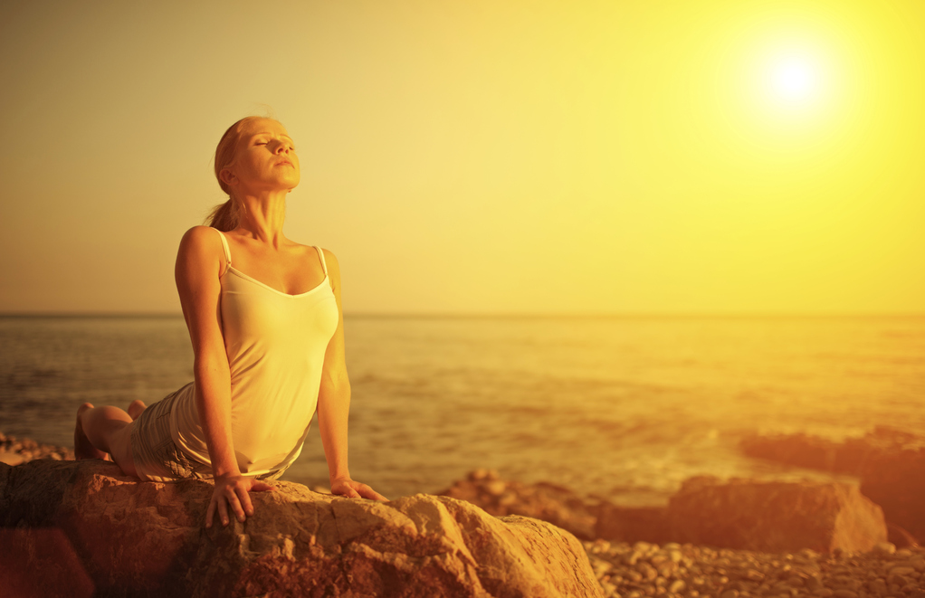femme en yoga respiration
