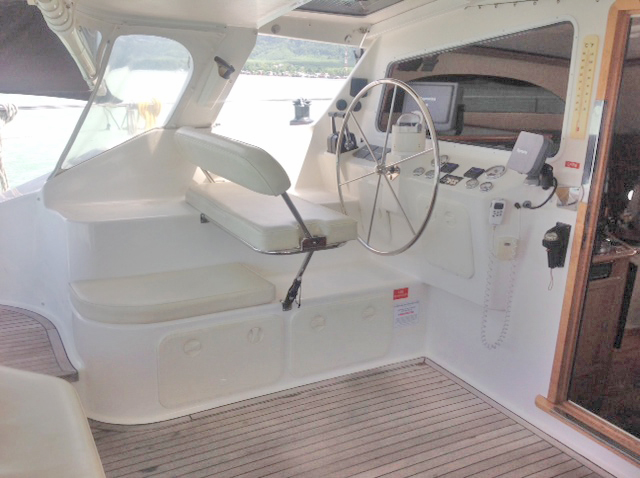 Perry 43 Catamaran Cockpit