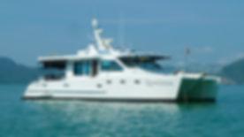 Stanyon 14 meter Power Catamaran fo sale in Langkawi, Malaysia.