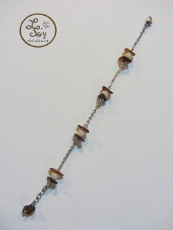 Bracelet chaîne perles