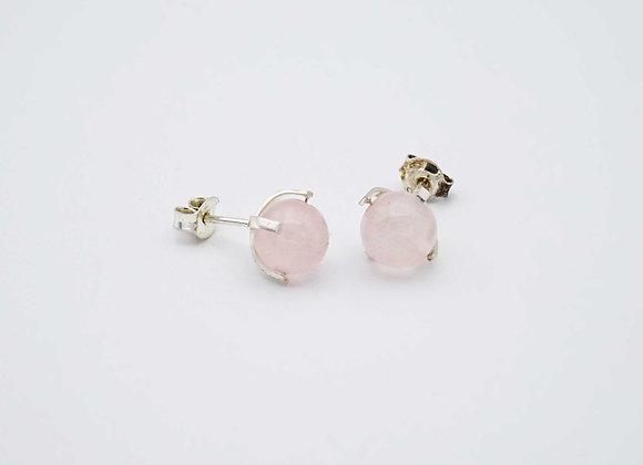 Boucles d'oreilles Quatrz rose