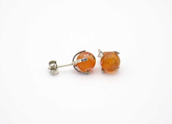 Boucles d'oreilles agate orange