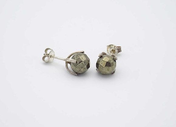 Boucles d'oreilles Pyrite