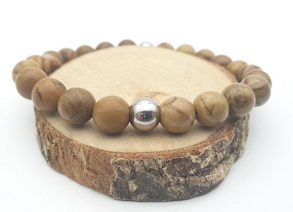 Bracelet Jaspe bois