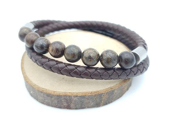 Bracelet Cuir Bronzite