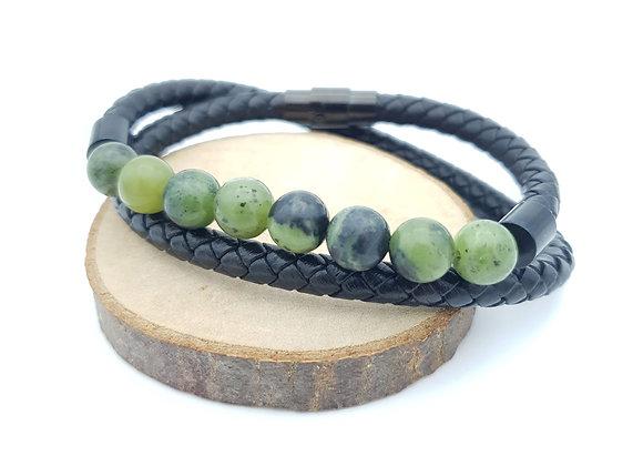 Bracelet Cuir Jade Canada