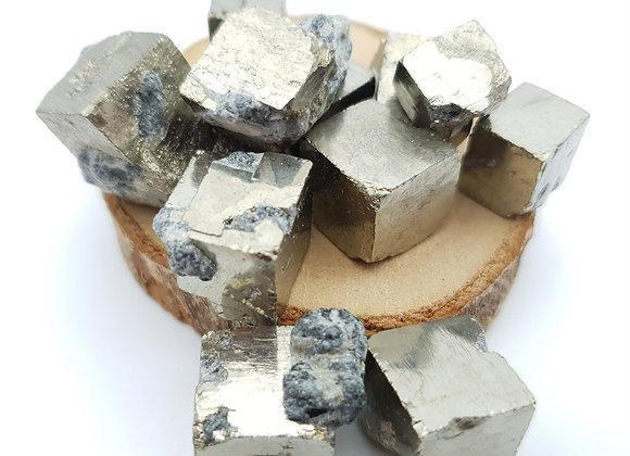 Pierre roulée Pyrite cubique