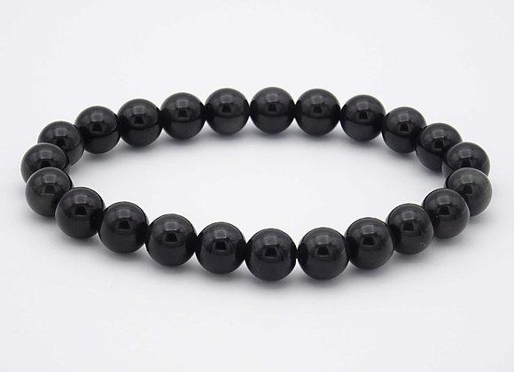 Bracelet Obsidienne oeil celeste
