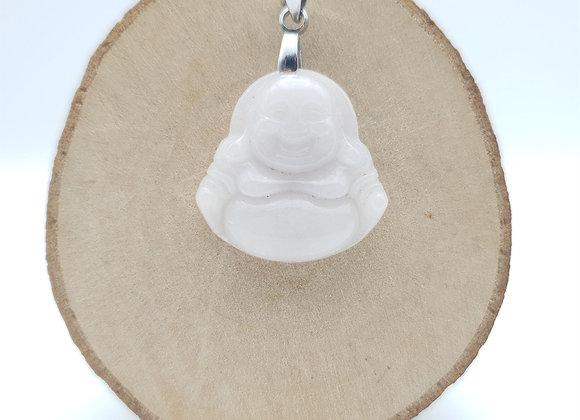 Pendentif Bouddha quartz rose