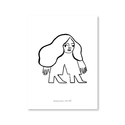 Affiche Femme, encre noire