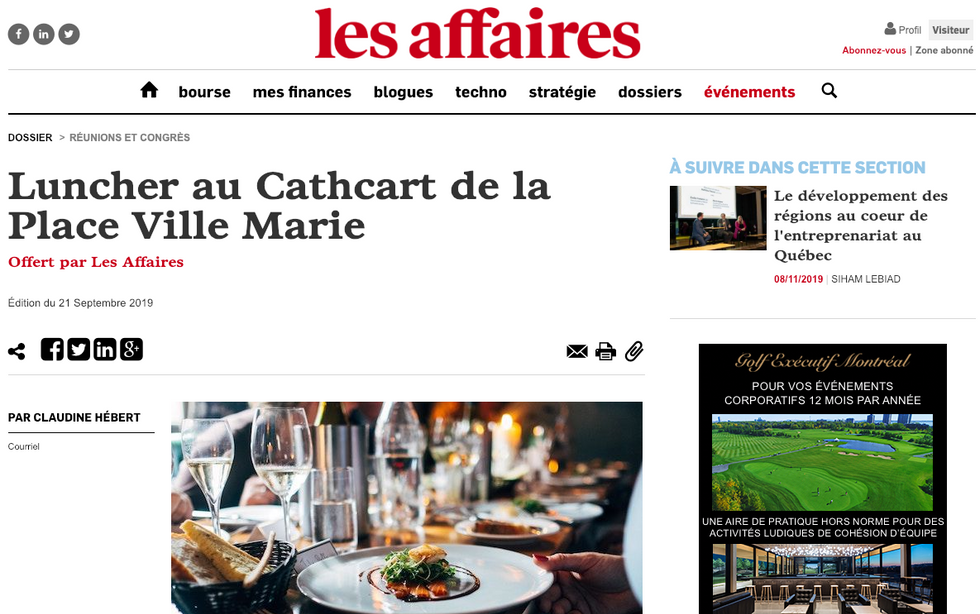 Les Affaires - Cathcart, Montréal