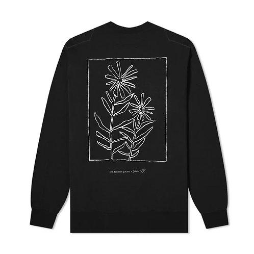 Manches longues mince  noir -  Fleur