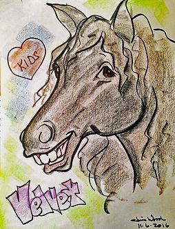 """Team Velvet lead therapy horse """"Velvet"""""""
